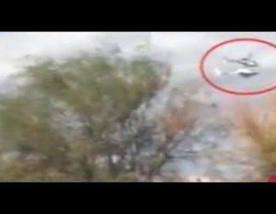 Imágenes del choque mortal de dos helicópteros durante la grabación de un reality francés