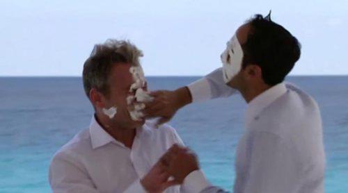 No emitido en TV: Laurent y su amigo acabaron a tartazo limpio en 'Casados a primera vista'