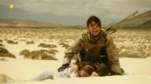 El capitán Sánchez, la cabo Santana y los niños son apresados por los terroristas en el último capítulo de 'Los nuestros'
