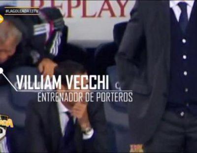 'La goleada' de 13tv capta la reacción del entrenador de Iker durante el Clásico al no sacar la mano en el gol de Suárez