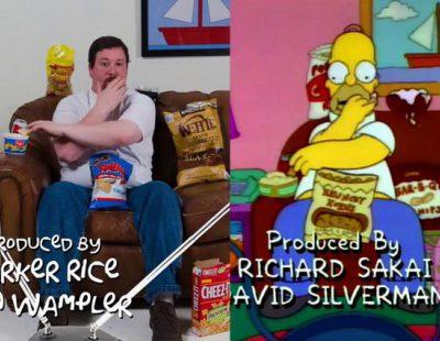 Un fan de 'Los Simpson' imita a la perfección la forma de comer de Homer