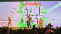 Pilar Rubio se pringa de moco verde en el Nickelodeon Slime Fest