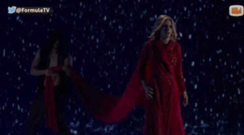 """El ensayo multicámara de """"Amanecer"""" de Edurne en el escenario de Eurovisión 2015"""