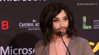 La rueda de prensa de Conchita Wurst en el Festival de Eurovisión 2015