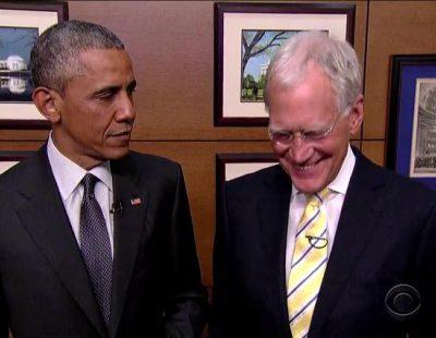 Barack Obama acude a la despedida de David Letterman