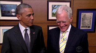 Barack Obama acude a la despedida de David Letterman