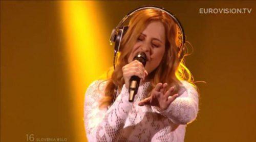 Eurovisión 2015: Actuación de Eslovenia, Maraaya - Here For You