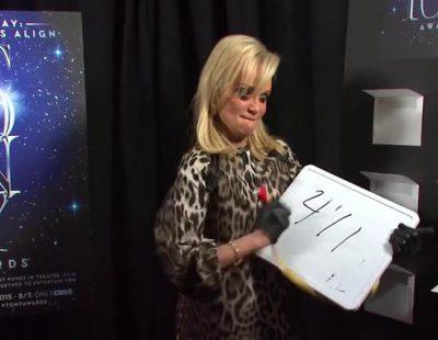 ¿Cuánto mide Kristin Chenoweth? en la promo de los Tony 2015