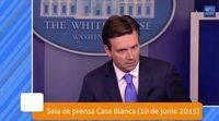'Veep' se hace realidad: la Casa Blanca, evacuada en plena rueda de prensa como en el penúltimo capítulo de la serie