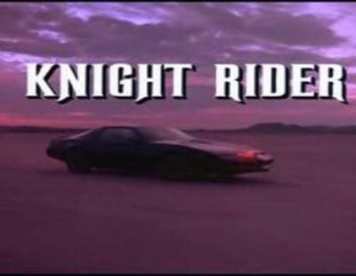 Cabecera de 'El coche fantástico', la mítica serie de David Hasselhoff