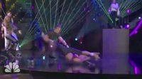 Nicole Scherzinger sufre una estrepitosa caída en la versión norteamericana de '¡Eso lo hago yo!'