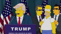 Homer Simpson se adentra en el pelo de Donald Trump