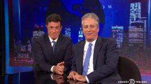 El emotivo discurso de Stephen Colbert a Jon Stewart en su despedida