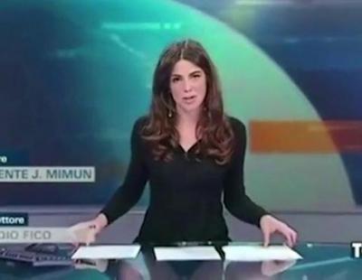 Presentadora de informativos enseña sus bragas sin querer en directo al transparentarse la mesa de cristal