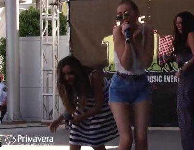 Una actuación de Little Mix acaba en accidente por culpa de un insecto