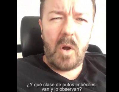 """Ricky Gervais carga duramente contra las corridas de toros: """"Si torturas a un toro por diversión, que te jodan"""""""