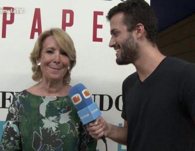 """Esperanza Aguirre: """"Soy una admiradora de Mariló Montero. Es una crack. Que hablen de nosotras, aunque sea bien"""""""