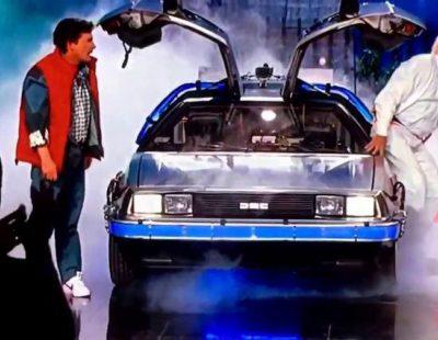 "Michael J. Fox y Christopher Lloyd en el homenaje a ""Regreso al futuro"" de 'Jimmy Kimmel Live'"