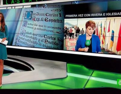 """El vídeo de la pillada de Cristina Pardo en 'laSexta Noticias': """"Joder, no me liéis"""""""
